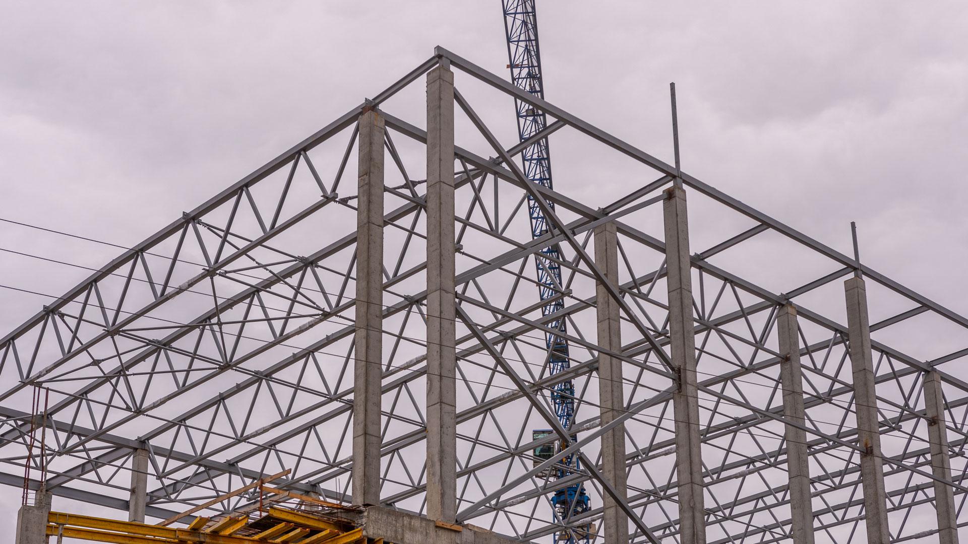 Constructions for Lukianivka Mall.